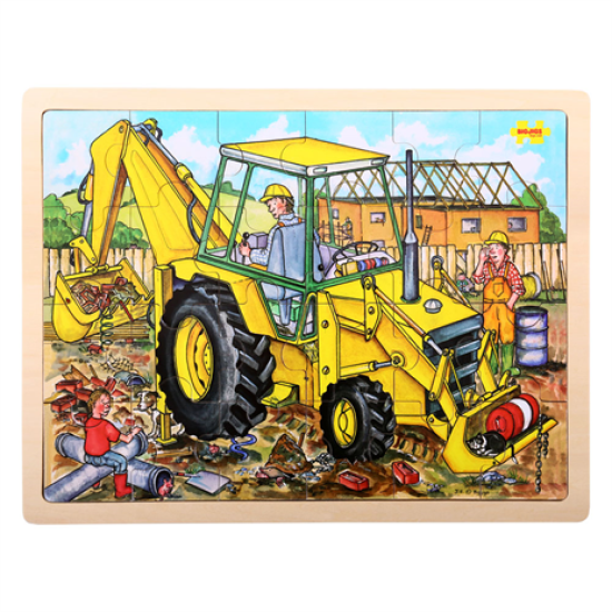 Digger Puzzle Tray 24pc