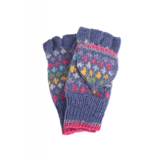 Granada Glove Mitts, Denim