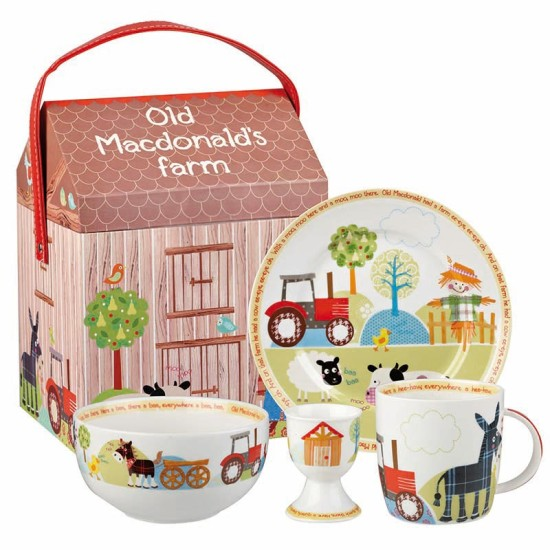ODLM00031 Old MacDonald 4pc Breakfast Set