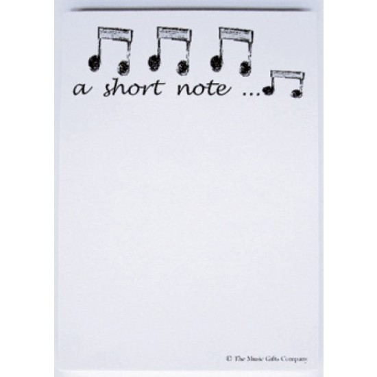 Short Music Note Pad